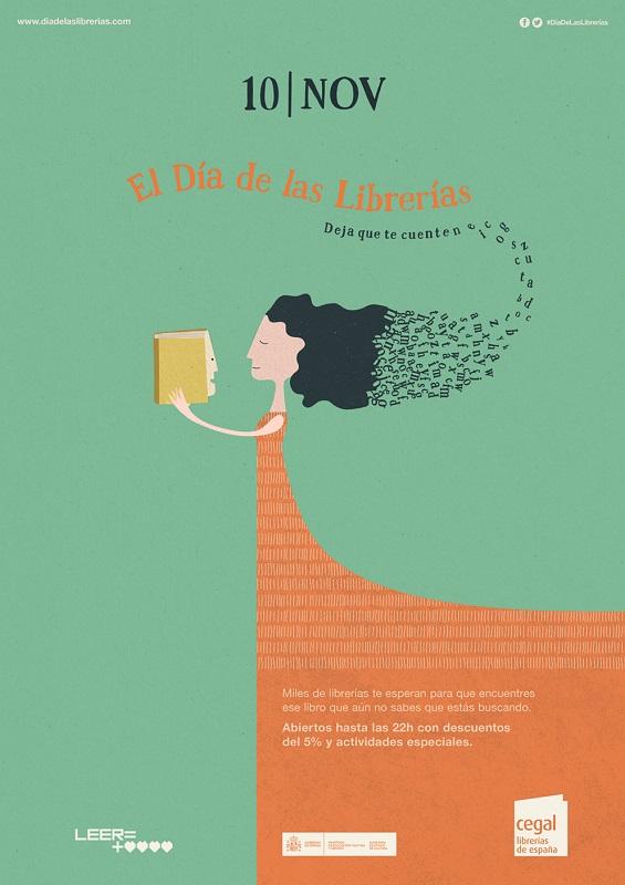 cartel dia de las librerias cast