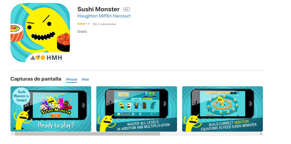 aplicacion para reforzar matematicas sushi monster