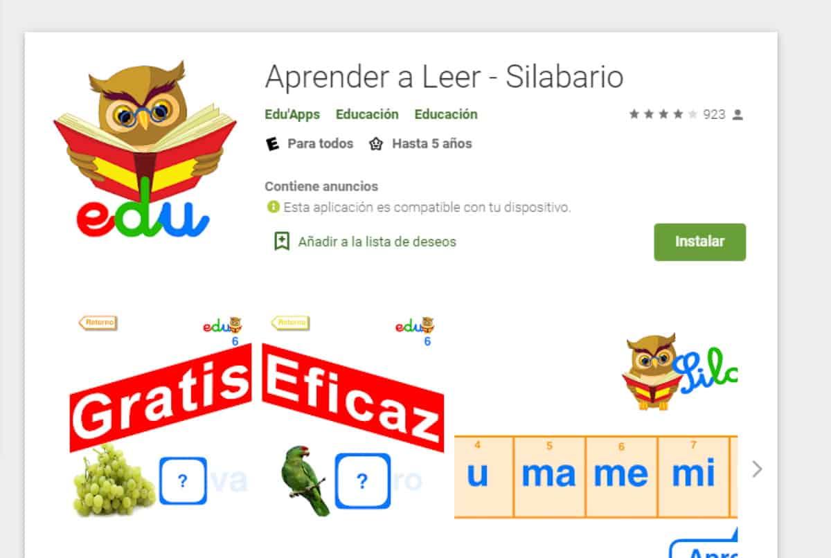 aprende a leer silabario