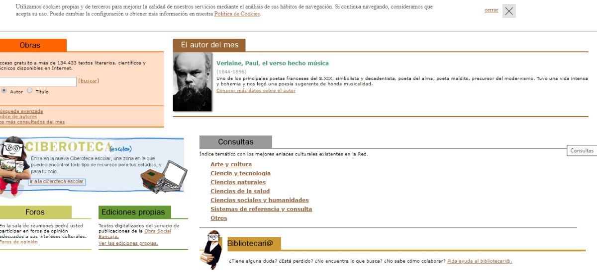 bibliotecas virtuales ciberoteca
