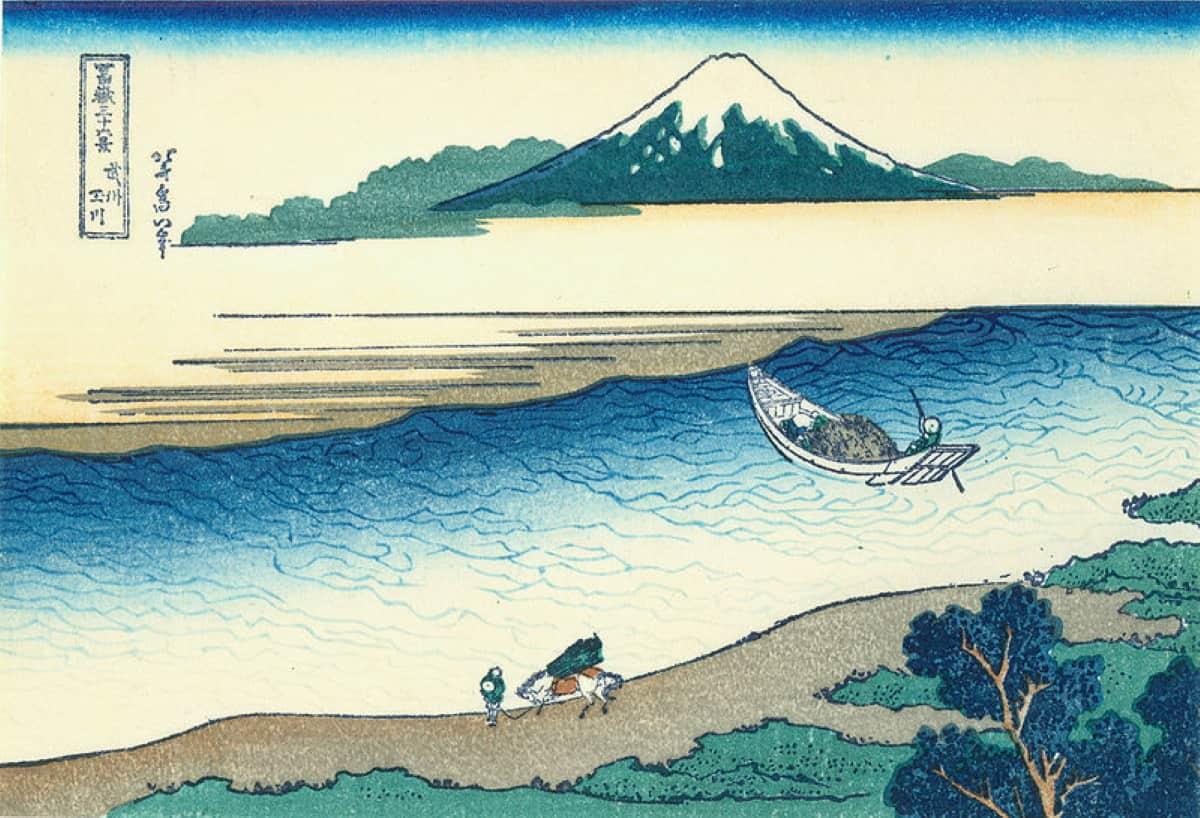 dibujo de hokusai