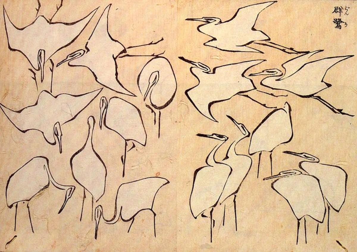 dibujos de hokusai japon