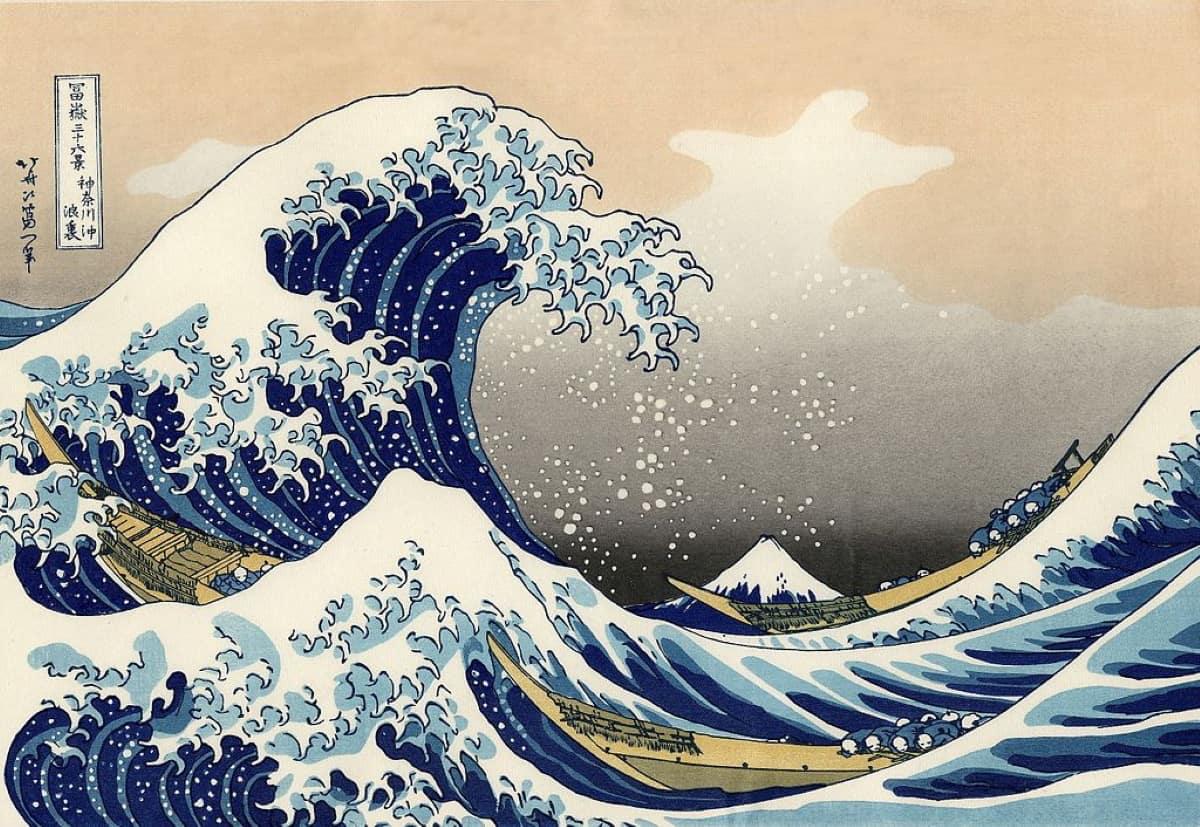 dibujos de hokusai