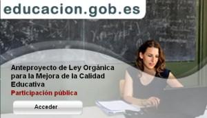 Anteproyecto Ley Educacion