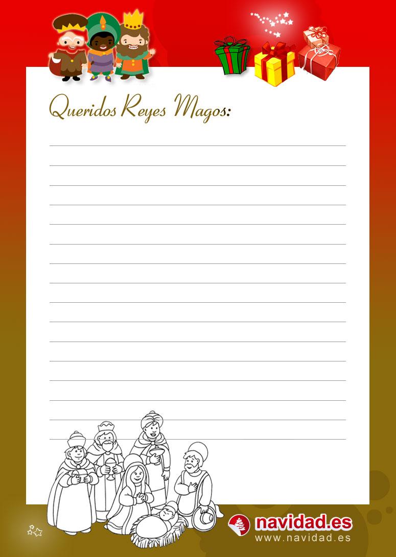 Dias De Reyes Magos Descargar infantiles carta a los reyes magos para imprimir y colorear