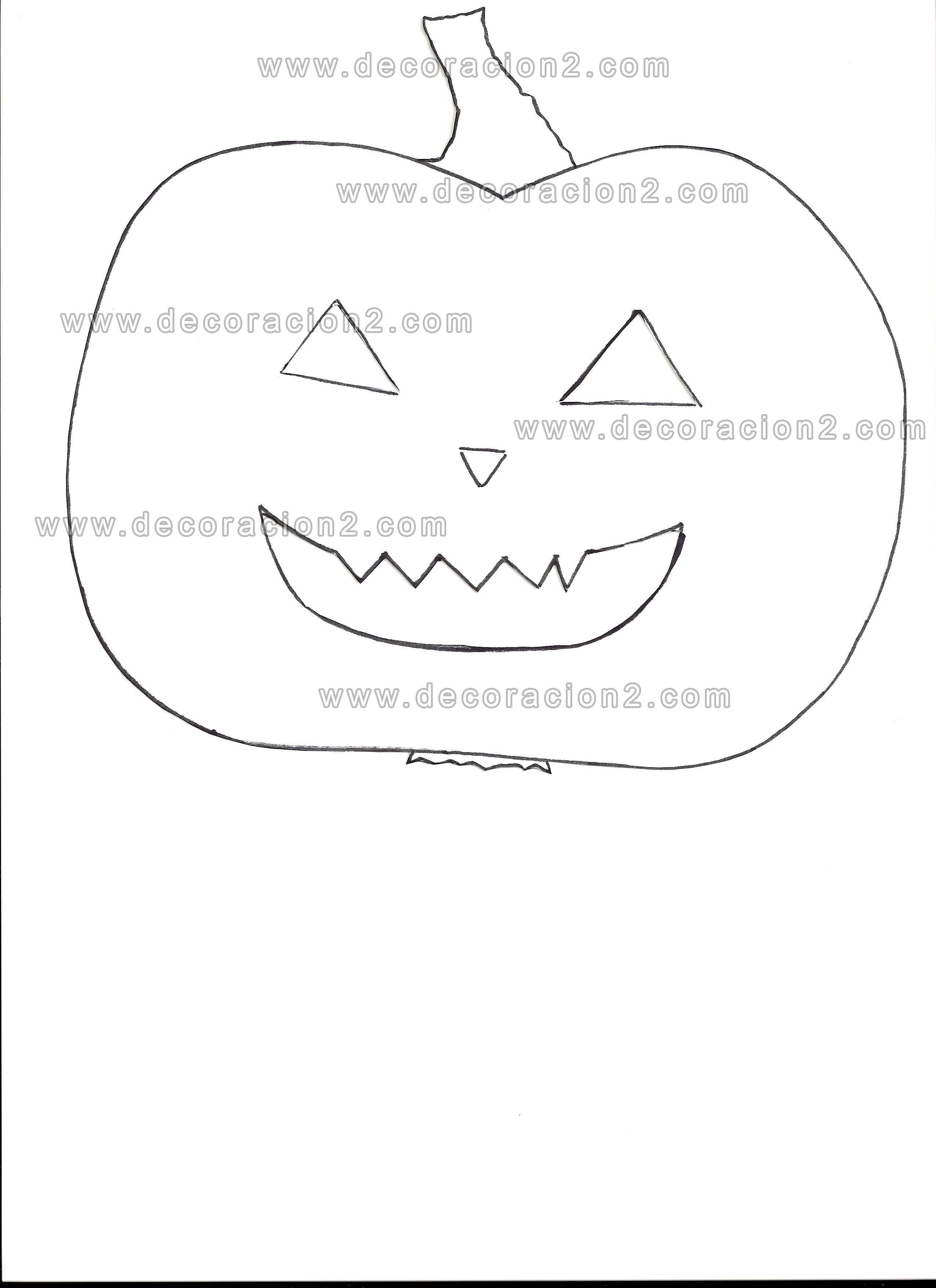 Plantillas Halloween: para recortar y colorear o para manualidades ...