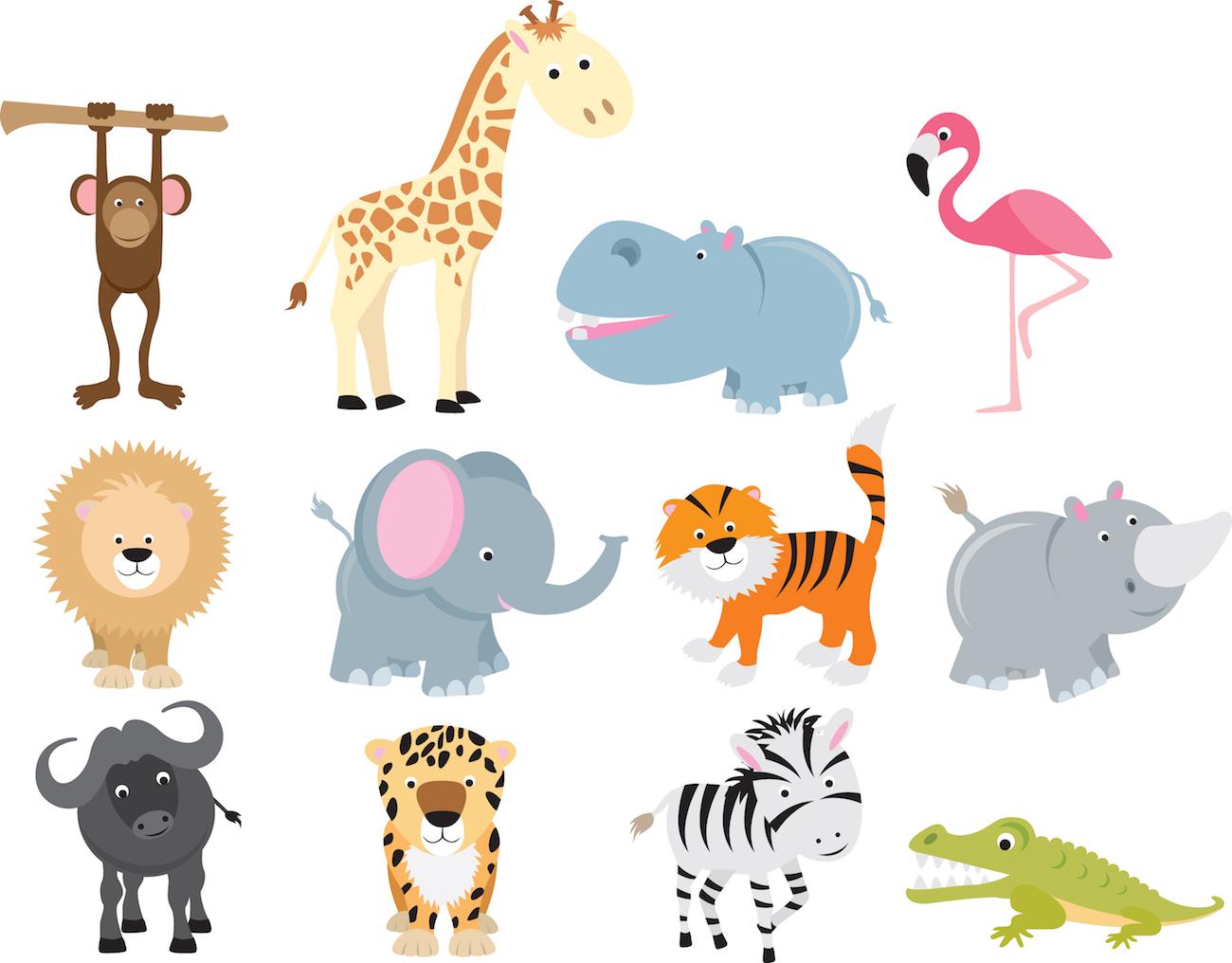 animales de safari