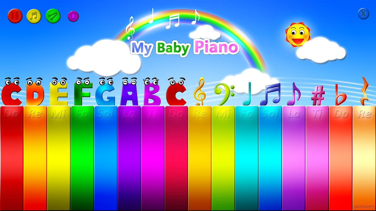 baby piano aplicación niños verano