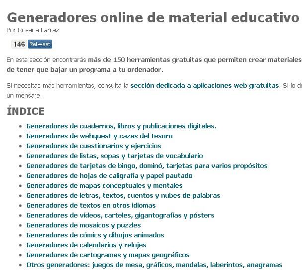 generadores online de contenido educativo
