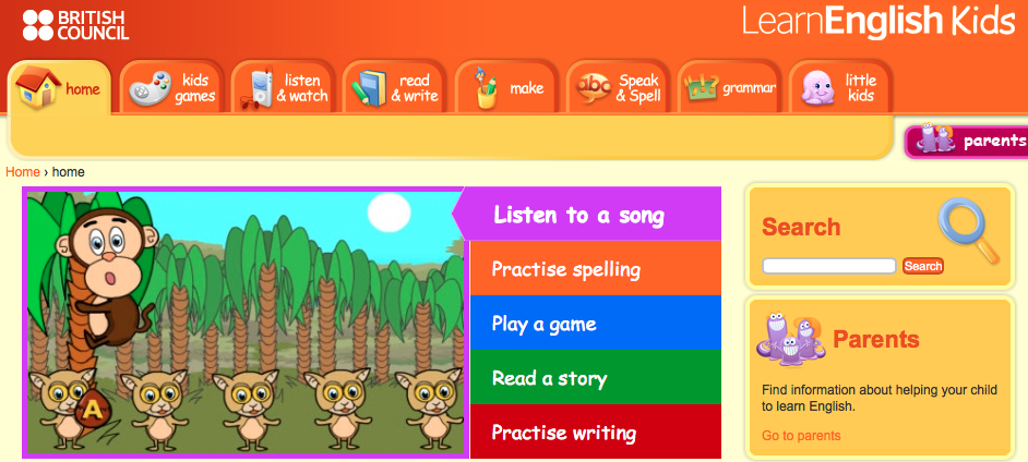 learn english kids web