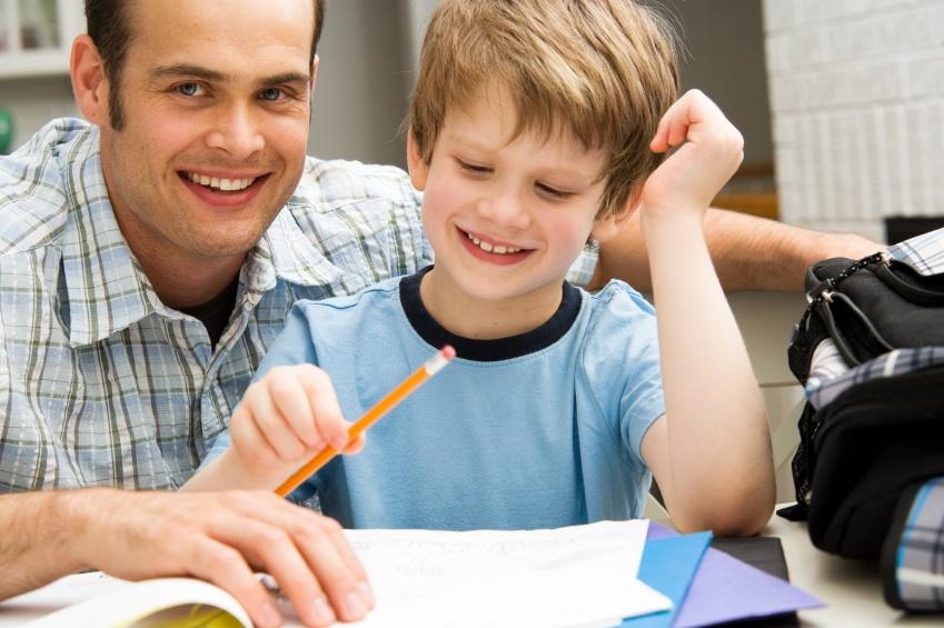 papa y nene deberes