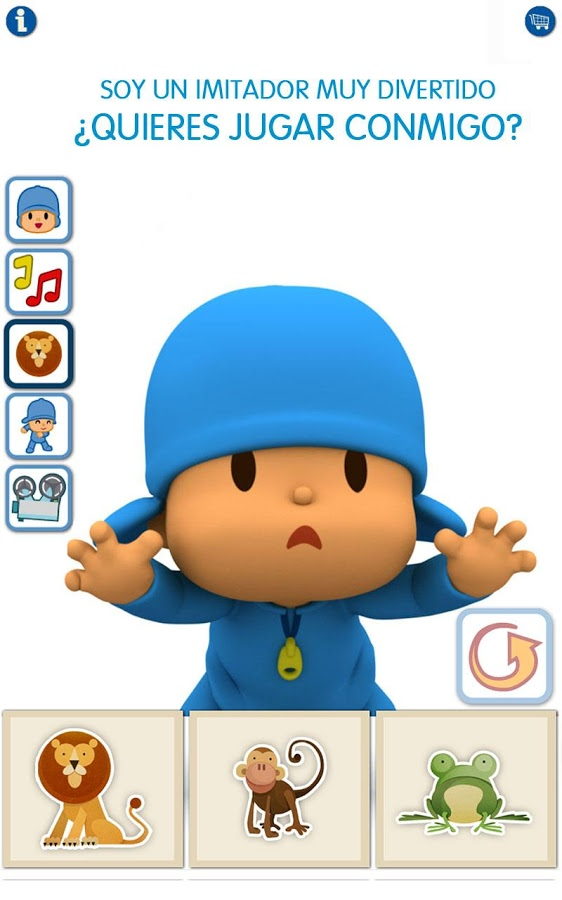 pocoyo talking aplicación niños