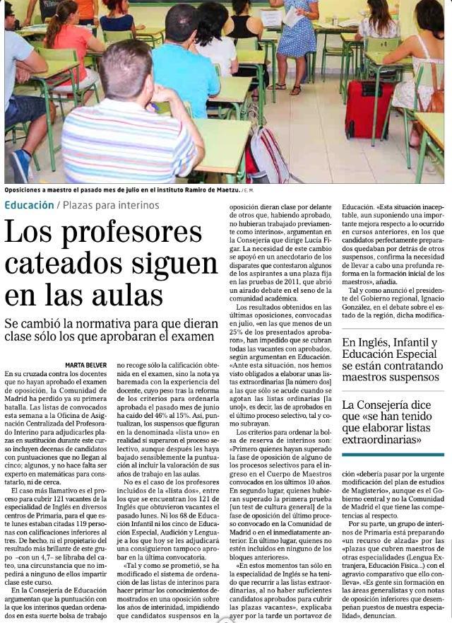 profesores suspensos dan clases