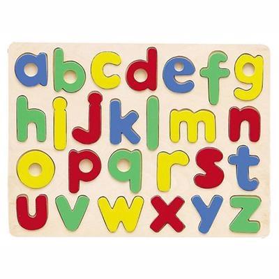 puzzle didactico de letras de madera